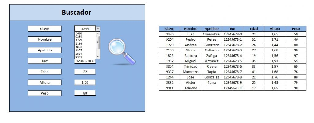 formulario buscador